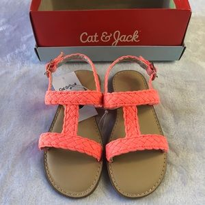 27de9bc476a Girls Coral Slip On Adjustable Sandals